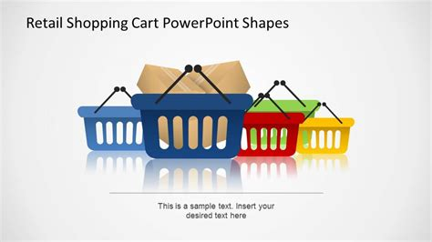 powerpoint themes retail retail shopping cart powerpoint shapes slidemodel
