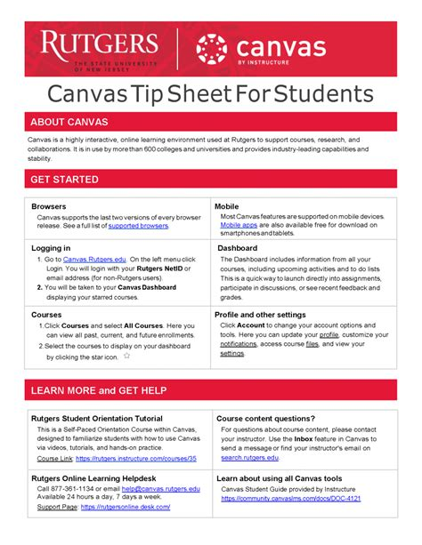 Getting Started In Canvas For Students Rutgers | canvas student guide canvas guides getting started in