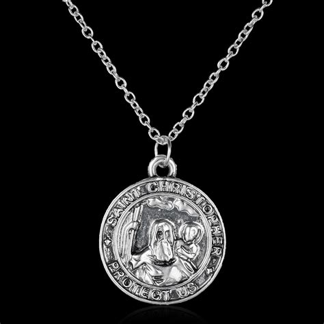 st pendant retro st christopher necklace pendant patron