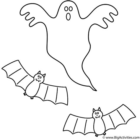 coloring pictures of halloween bats ghost with bats coloring page halloween