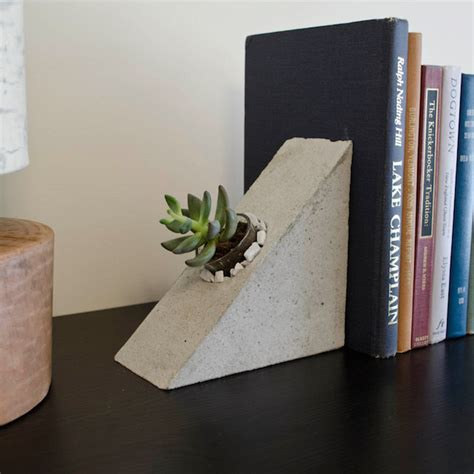 Ideas Design For Cement Planters Concept 15 Ridiculously Unique Ideas For Bookends