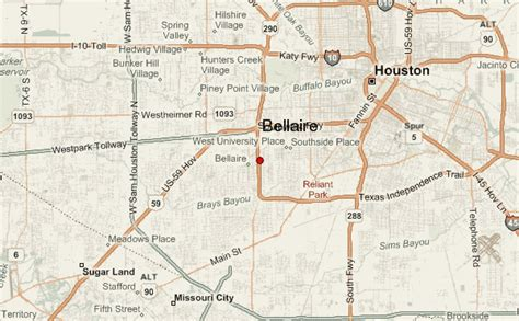 bellaire texas map bellaire location guide