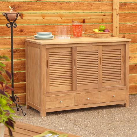 outdoor kitchen cabinet 48 quot touraine teak sideboard home accents