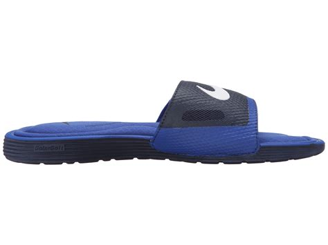 nike comfort slide 2 blue nike solarsoft comfort slide in blue for men lyst
