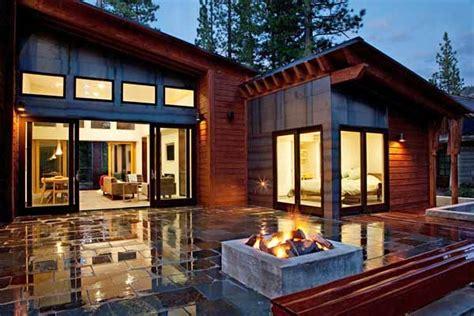 Villa Luxury Home Design Houston by Mountain Modern Prefab Blends Into Surroundings