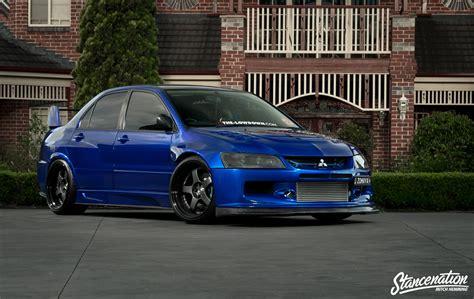 mitsubishi modified wallpaper mitsubishi lancer evo ix blue cars sedan modified