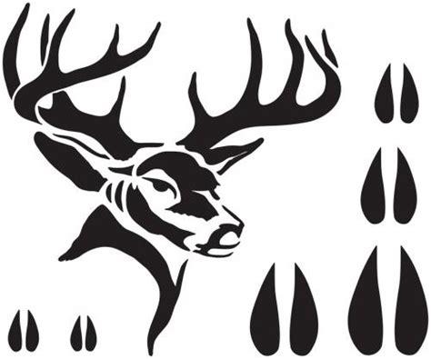 printable stencils deer deer stencil 7x9 scribbleshop com