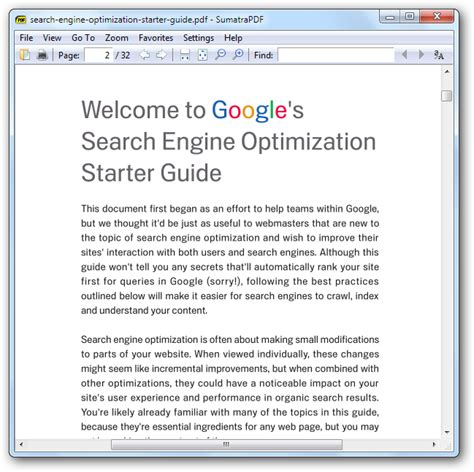 Search Engine Optimization Articles 1 by Fastest Pdf Reader For Microsoft Windows Aka Sumatra Pdf
