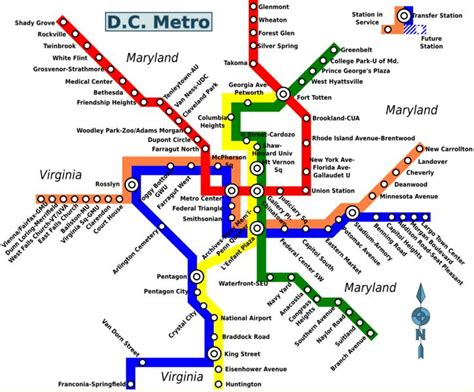 washington dc map subway map of washington dc metro world easy guides