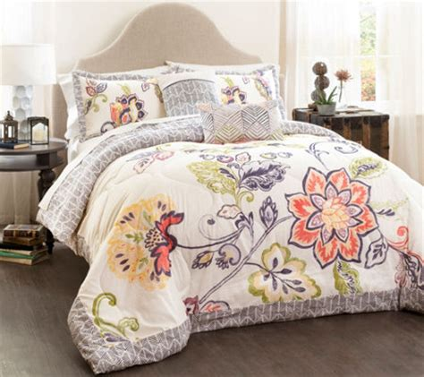 lush decor comforter sets aster 5 piece king comforter set by lush decor page 1