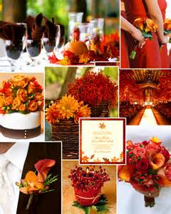 wedding fall colors favorite fall wedding colors burnt orange