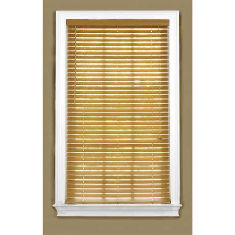 Wood Plantation Blinds Shop Style Selections 27 In W X 36 In L Light Oak Faux