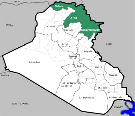 map of iraqi kurdistan musings on iraq