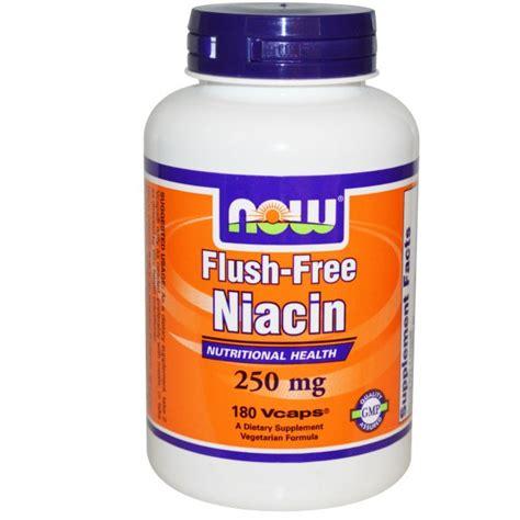 Vitamin B Detox Rash by Now Foods Flush Free Niacin 250 Mg 180 Vcaps