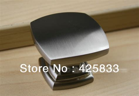 Aliexpress.com : Buy 8pcs Single Square Brushed Nickel Cabinet Handles Kitchen Knobs and Drawer
