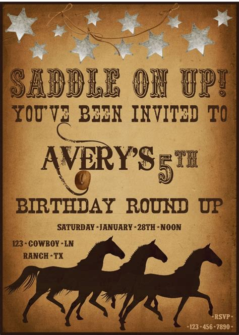 cowboy invitation template 165 best images about country western theme on