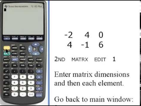 calculator matrix inverse determining inverse matrices on the ti83 84 how to save