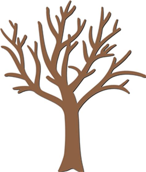 bare tree template bare tree silhouette clipart best