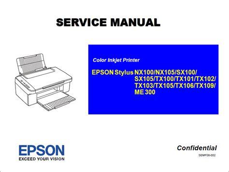 resetter for epson sx100 sx105 epson stylus tx106 nx100 nx105 sx100 sx105 tx100 tx101