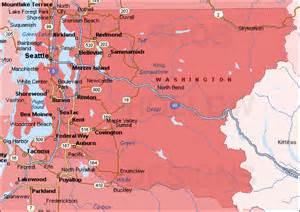 king county washington color map
