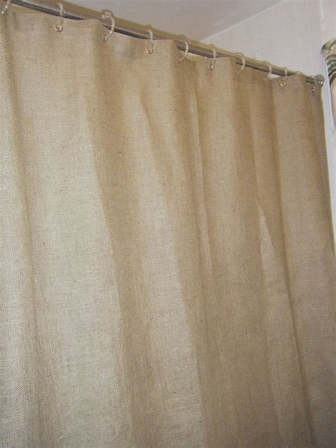 Burlap Shower Curtains Burlap Shower Curtain 72 Wide X 72 96
