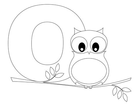 o coloring pages preschool animal alphabet letter o is for owl here s a simple