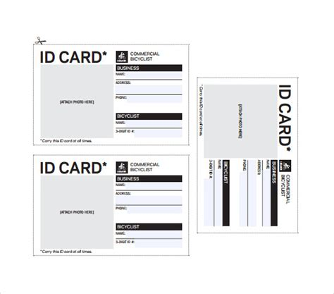 how to design id card in ms word id card template cyberuse