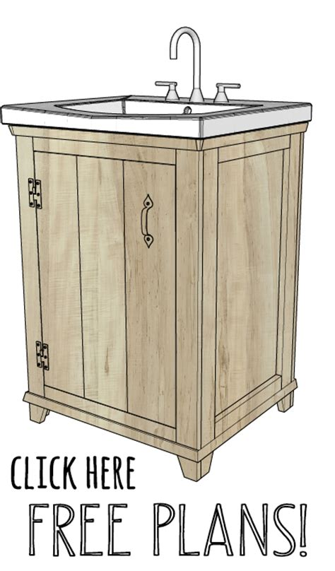 Bathroom Sink Cabinet Plans Diy Bathroom Vanity Shanty 2 Chic