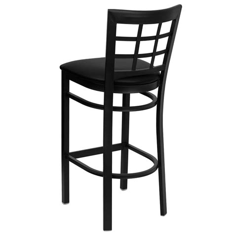restaurant quality bar stools metal window back barstool