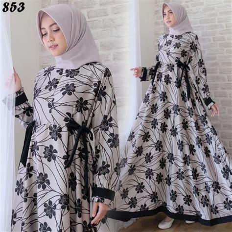 Gamis Remaja Cantik gamis cantik maxmara bunga c853 baju muslim modern