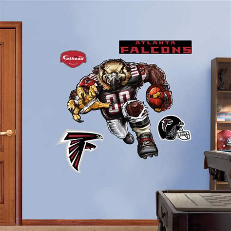atlanta falcons home decor fierce falcon wall decal shop fathead 174 for atlanta