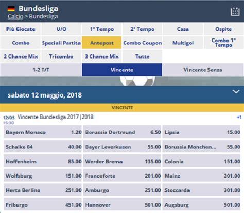 Calendario Bundesliga Calendario Bundesliga 2017 2018 E Quote Vincente