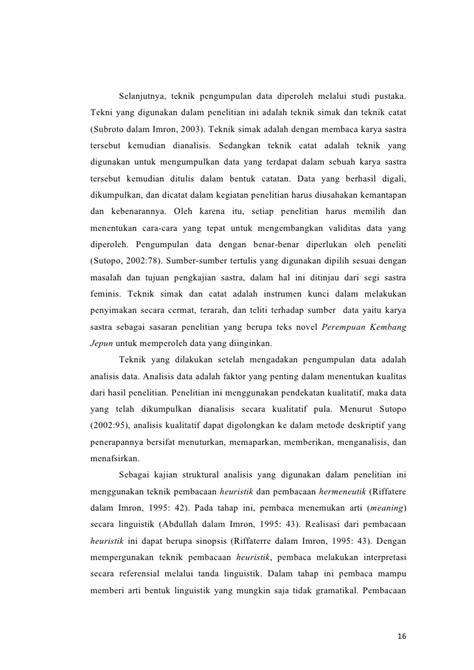 cara membuat analisis novel analisis novel perempuan kembang jepun
