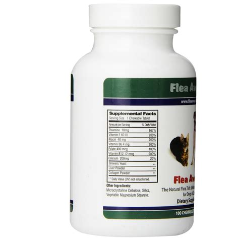 flea pill for dogs flea away for cats dogs 100 chewable tablets