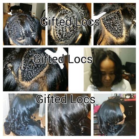 ways you can put braid weave in a donut bun my work the vixen sew in also known as the ultimate