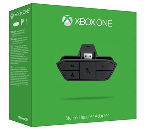 Microsoft Xbox One buy microsoft xbox one stereo headset adapter free