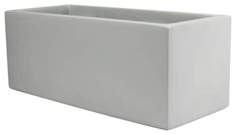 White Rectangular Planter Box by Belmont Rectangle Fiberglass Planter Box White Modern