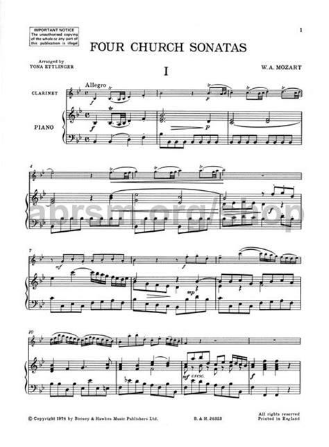 camille saint saëns clarinet sonata op 167 wolfgang amadeus mozart 4 church sonatas