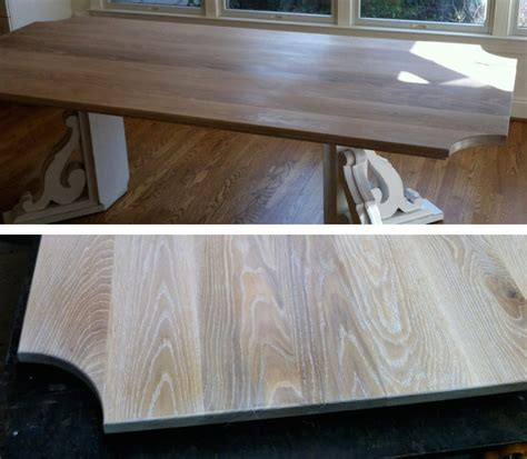 White And Oak Kitchen Table Limed White Oak Kitchen Table Maryland Wood Countertops