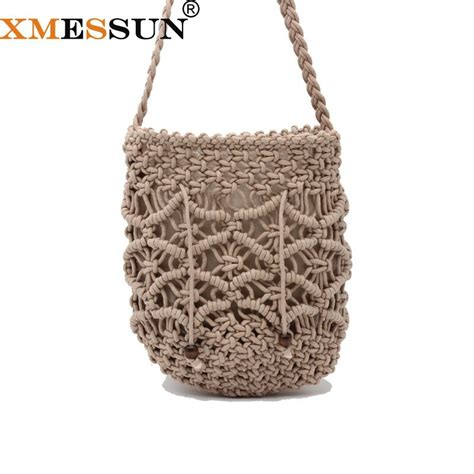 summer bali hand woven rattan bag embroidery shoulder