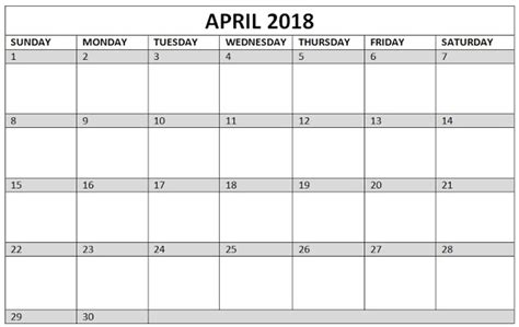 Printable April 2018 Calendar Editable Template Printable Templates Letter Calendar Word Excel 2018 Editable Calendar Template