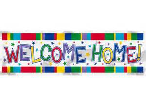 welcome home banner partystore banners posters signs wall murals