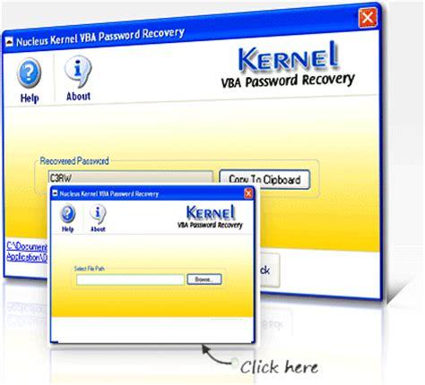 vba recovery password crack vba password recovery software recover restore vba