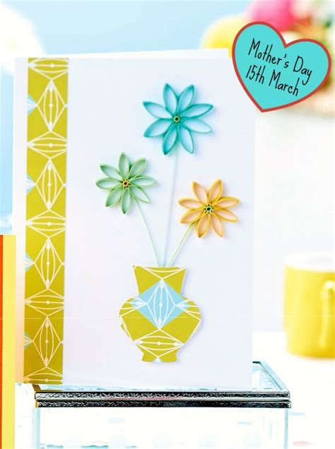 s day card maker make a quilled mother s day card papercrafter project