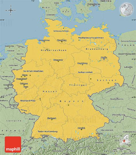 east germany map savanna style map of germany