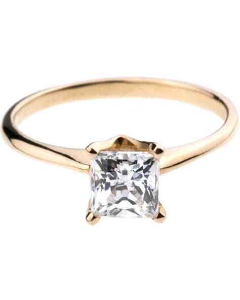 princess cut engagement rings martha stewart