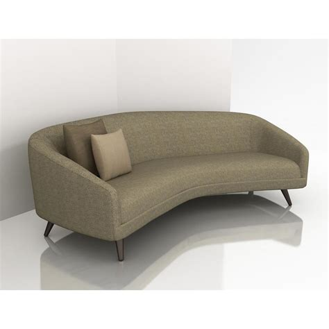 Curved Back Sofas Thesofa Curved Sofas And Loveseats