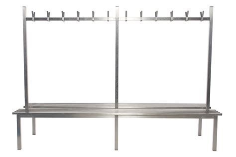 changing room benches with hooks stainless steel double sided changing room benches