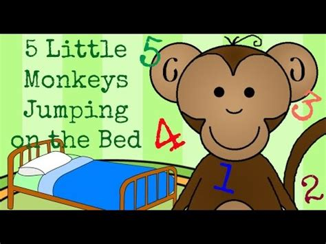 monkeys jumping on the bed lyrics five little monkeys jumping on the bed childrens nursery