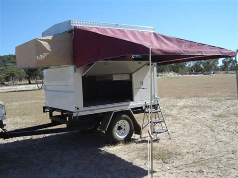 c trailer awnings cer trailers ezi up cer ezi on trailer with awning